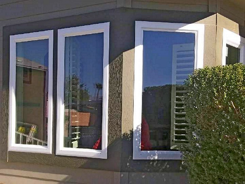 Panoramic White Vinyl Windows Project in Desert Hot Springs after