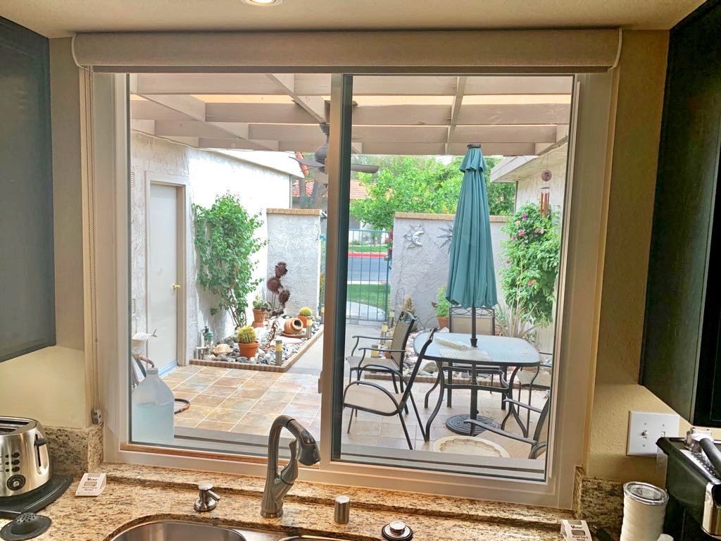 Pation Door with Freedom Plus Pet Entry Replacement in Palm Springs